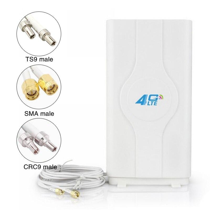 88dBI, antena móvil LTE 4G, amplificador de señal, Antena de Panel mImo 2 * SMA-macho/TS9 /conector CRC9 con Cable de 2M Antena WiFi 4G LTE, antena SMA 12dBi Omni antenne CRC9 TS9 SMA macho 5m, cable dual 2,4 GHz CRC9 para Routers Huawei B315 E8372 ZTE