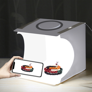 Oświetlenie fotograficzne pudełko na lustrzanka cyfrowa Panel pierścieniowy przenośne małe studio fotograficzne fotografowanie namiot fotografia skrzynka narzędziowa 6 kolorów tła