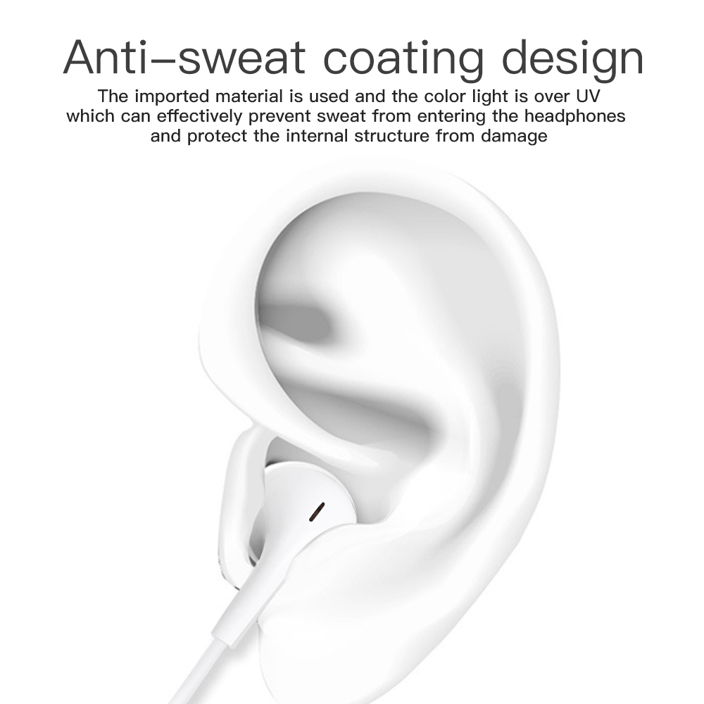 In Ear Wired Bluetooth Earphone for Apple IPhone 10 11 Pro X XR XS Max 7 Plus Earbuds with Mic Ear Phone Not Wireless 2