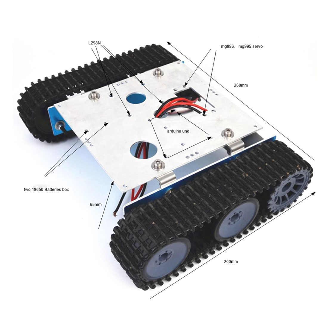 DIY ถังอลูมิเนียมหุ่นยนต์ Caterpillar รถแพลตฟอร์มแชสซีชุดชุดสำหรับ Arduino เด็ก birthdaty ของขวัญ