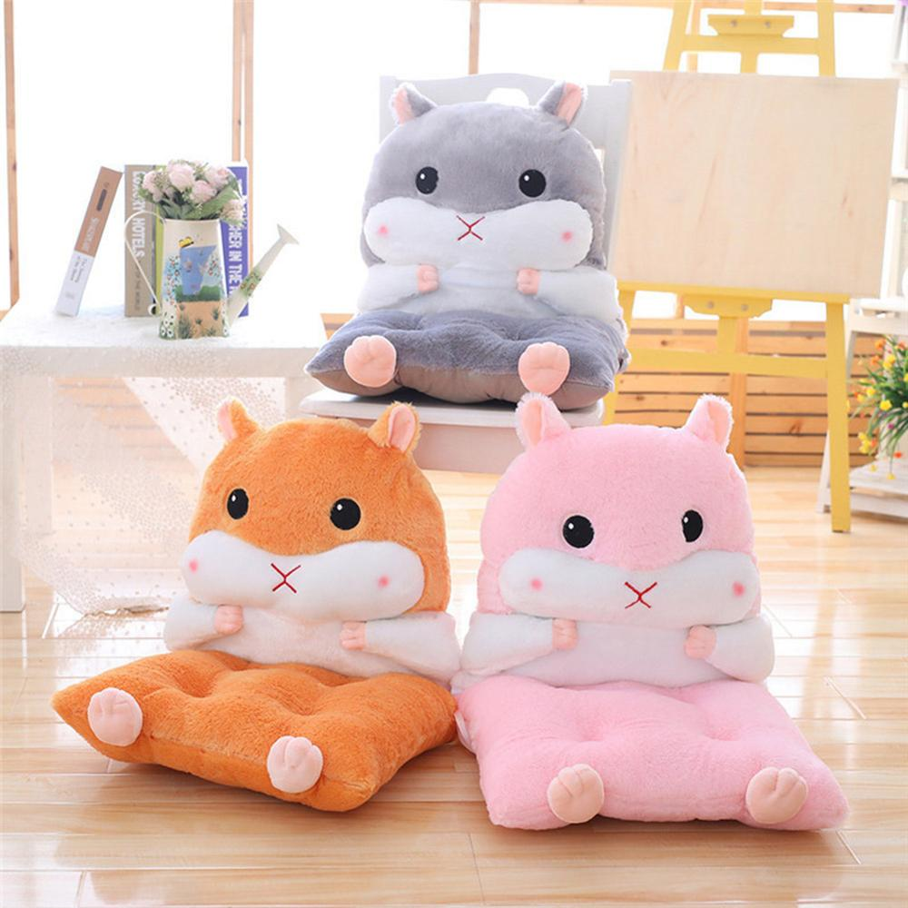 Cartoon Hamster One-Piece Detachable Hamster Back Cushion Soft Cute Chair Pad Baby Seat Chair Pad Pillow Thicken Stool