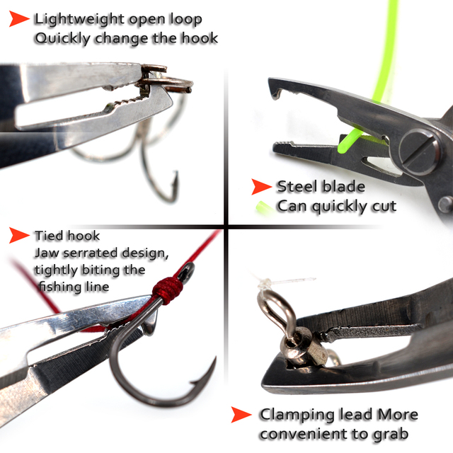 MNFT Fishing Plier Scissor Braid Line Lure Cutter Hook Remover etc. Tackle Tool Cutting Fish Use Tongs Multifunction Scissors 5