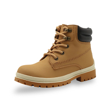 Apakowa Autumn Winter Boys Girls Classic Martin Boots Kids Lace up Fashion Motorcycle Ankle Boots Work Boots Childrens Shoes