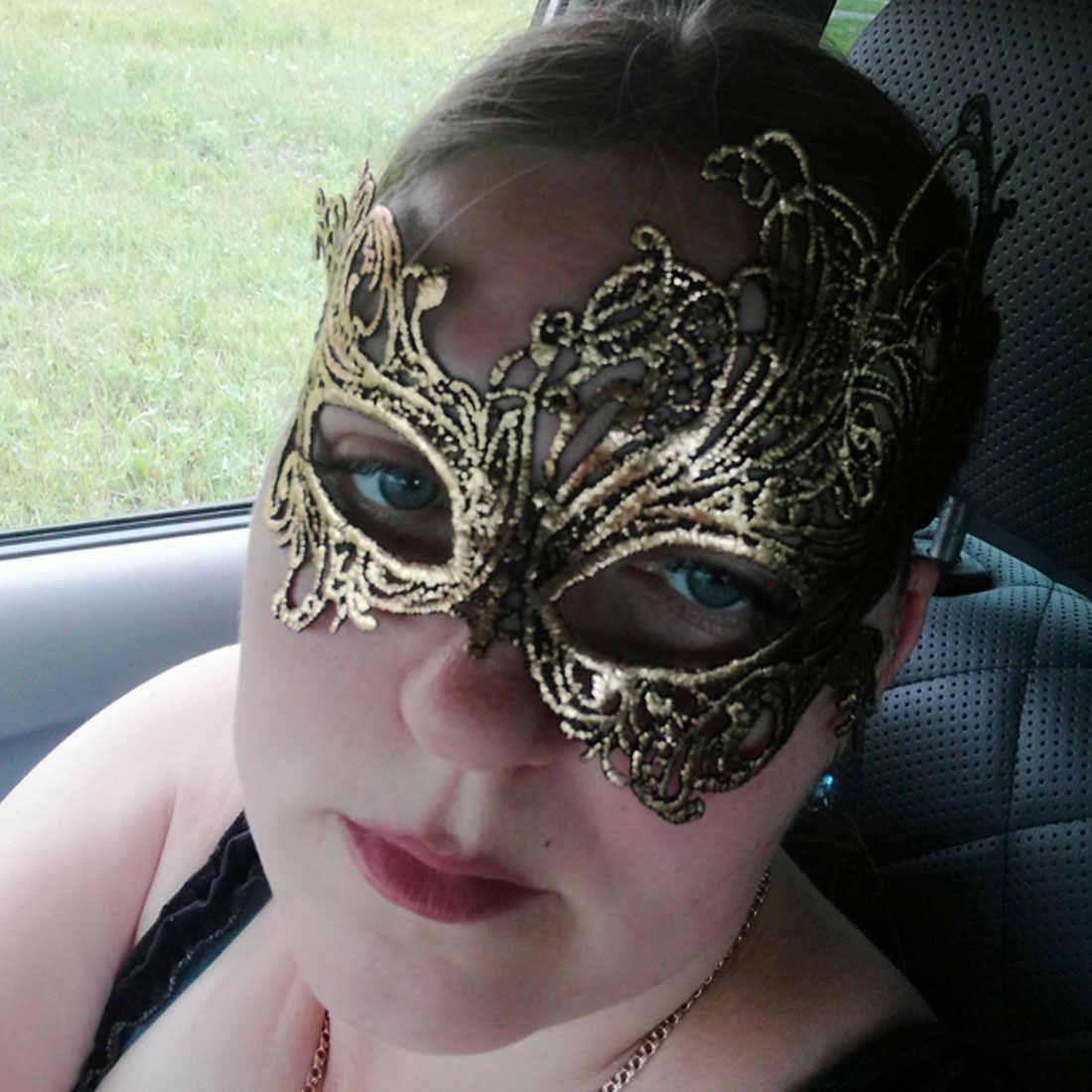 1 Pcs Wanita Renda Mata Bronzing Face Mask Masquerade Pesta Karnaval Bola Prom Halloween Dekorasi Seksi Pesta Masker