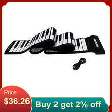 High Quality USB 88 Keys MIDI Roll up Electronic Piano Keyboard Silicone Flexible Professional Electronic Organ