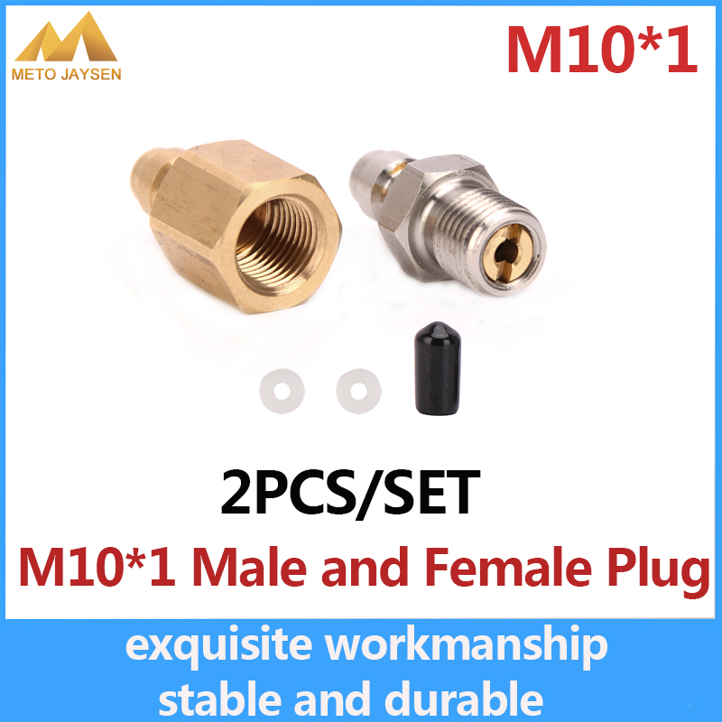 PCP Airforce Paintball 8mm Fill Nipple M10x1 Quick Female Plug Coupler Fittings Air Socket Male Plug 2pcs/set