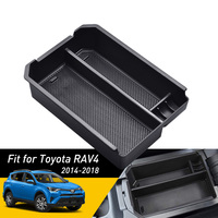 Car Center Console Armrest Storage Box Organizer For Toyota RAV4 RAV 4 2018 2017 2016 2015 2014 Accessories Bin Glove Tray Case Stowing Tidying Automobiles & Motorcycles -