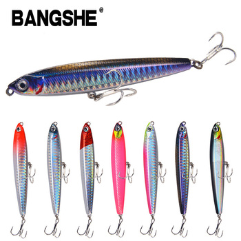 100mm/24g Flying Fish Pencil Sinking Fishing Lures Wobblers Hard Bait Artificial Fishing Lure Accessories Saltwater Tackle Lures