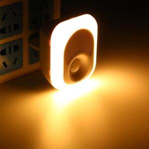 Image 2 - LED לילה אור עם חיישן תנועת PIR אדם אינפרא אדום הופעל אור חיישן קיר חירום מנורת התוספת מנורת קיר עבור שינה