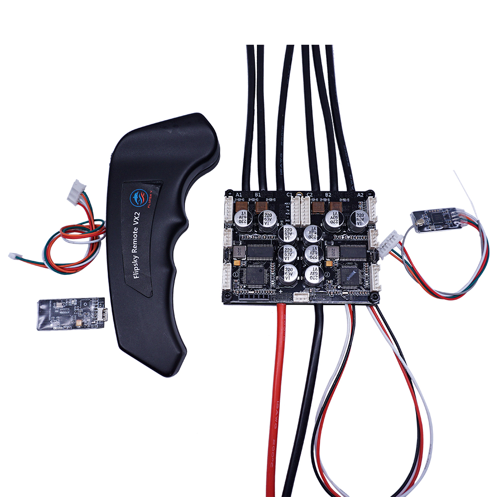 Electric Speed Controller FSESC 4.20 PLUS And Remote Controller With Bluetooth Combo Dual VESC 4.20 100A  For RC Car Flipsky