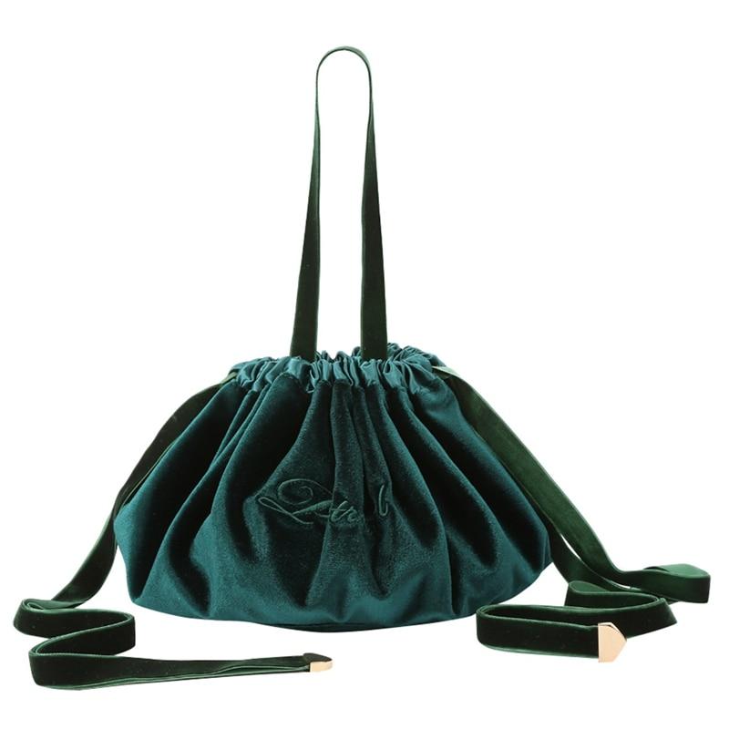 New Velvet Drawstring Makeup Bag Case Women Large Capacity Storage Organizer Travel Make Up Cosmetic Bag Toiletry Bag