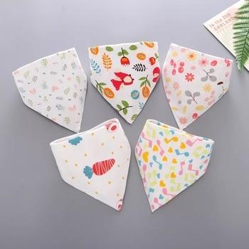 5 pieces/lot Newborn Baby Boy Girl Bibs Triangle Drooling  Toddler Cotton Scarf Burp Slabber Cloth Bandana Infant  stuff Bibs