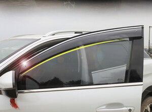Image 2 - Abs viseiras da janela vento chuva sun defletor viseira guarda ventilação capa para peugeot 3008 3008 gt estilo do carro acessórios 2017 2019 2020