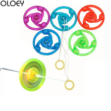 10PCS Led Rope Pull Flying Toy Light Funny Kids Gifts Party Supplies LED Glowing