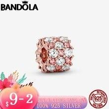 Роскошные 925 стерлингового серебра и розового золота Цвет розово