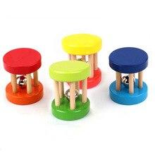 Wooden Rattle Kids Boys Gilrs Infant Newborn Baby Toys 0 6 12 13 24 Months Jouet Juguetes BeBe