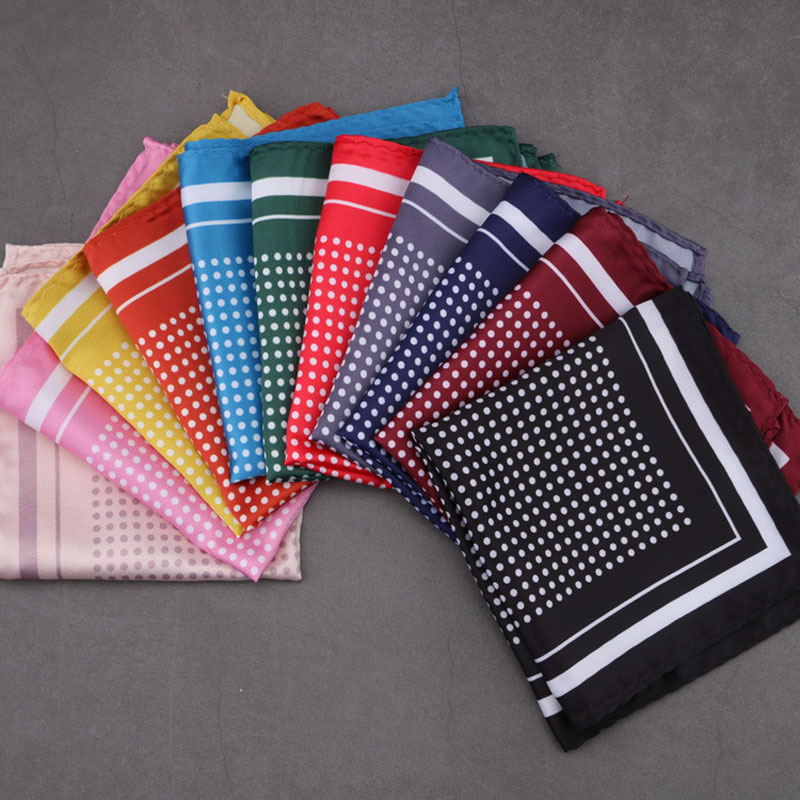 Luxury Pocket Square Man Handkerchief Polka Dot Soft Style Hanky Mens Suit Chest Towel Accessories For Wedding Party Gift