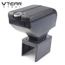 Vtear Universal Armlehne Innen Auto Leder Lagerung Box Arm Rest Auto-Styling Dekoration Zubehör Center Konsole Teile Abdeckung
