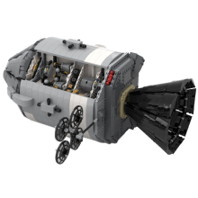 Human aviation spacecraft MOC building blocks  Apollo command service module space model  spacecraft building blocks