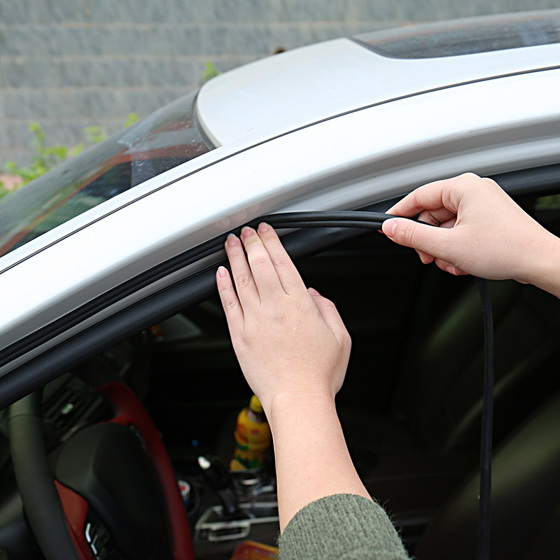 Car Door Seal Strip Stickers Anti-Dust Soundproof Sealing DIY 1 Meter Rubber B Type Noise Insulation Auto Interior Accessories