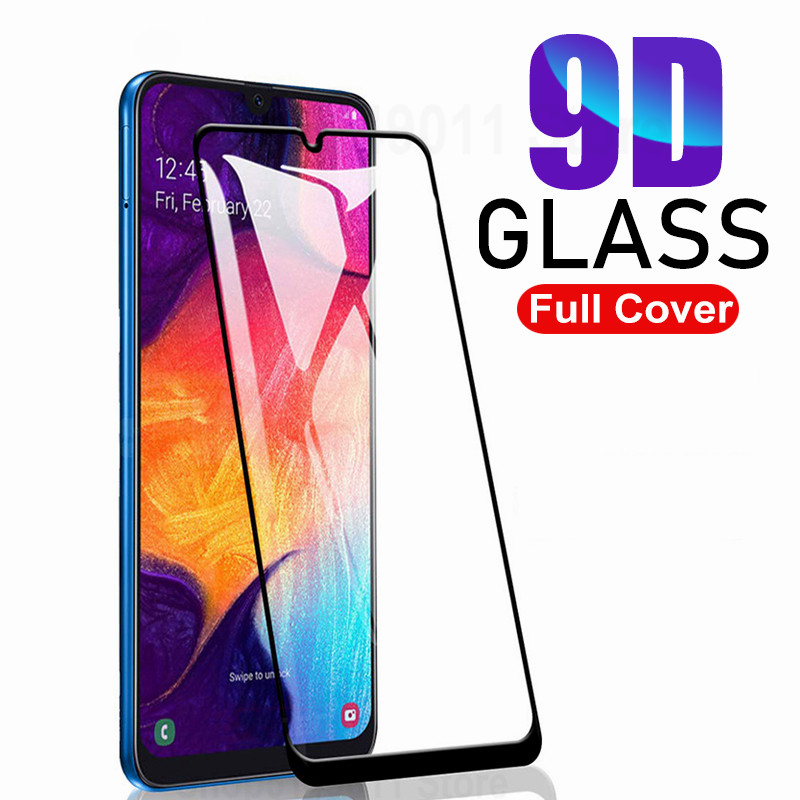 9D Protective Glass On For Samsung Galaxy A20 A30 A50 A 40 60 70 80 90 M 10 20 30 A20E A40s Tempered Screen Protector Glass Film