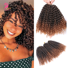Synthetic Marley Braids Jamaican Bounce Crochet Hair Ombre Afro Kinky Curly Crochet Braid Hair Marlybob Braiding Hair Braids cheap TMT HAIR Low Temperature Fiber CN(Origin) 20strands pack 8 inch 90g(±5g) 3 sets per pack Gray Pink Purple And Other Different Gradient Colors