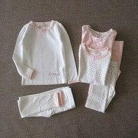 Baby Thermal Underwear Pure Cotton Children Long Sleeve Thin Base Low round Neck Cotton Jersey Girls Thermal Underwear