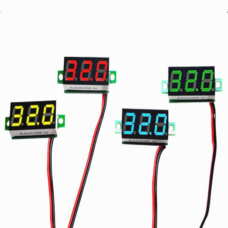 1 Đồng Hồ Đo Điện Áp DC Vôn Kế Led 0-30V Xe Hơi Điện Di Động 0.28 Inch Kỹ Thuật Số Bút Thử Điện Xe máy 12V Màu Đỏ Xanh Lá Xanh Dương