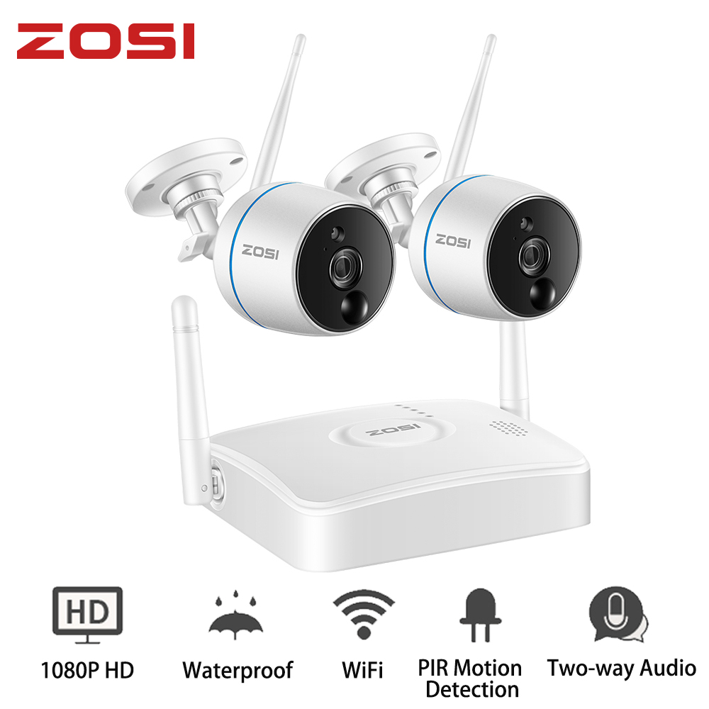 ZOSI Wireless Security CCTV Camera System 1080P Wifi Mini NVR Kit Outdoor Video Surveillance Cam Home Wireless Led IP Camera Set-in Surveillance System from Security & Protection