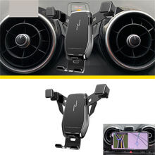 Metal 360 graus smartphone titular horizontal vertical para audi a3 s3 gravidade telefone suporte de montagem 4.7 a 7 em para a navegação do carro