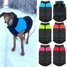 Engrossar quente inverno roupas do cão casaco filhote de cachorro colete jaqueta à prova dchiágua pet cão chihuahua roupas para pequeno médio grandes cães jaquetas