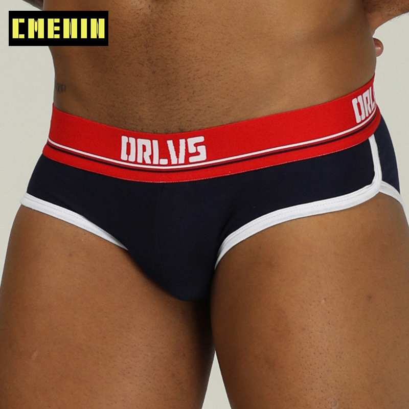 Men Underwear Sexy Gay Male Panties Cotton Briefs Underpants Jockstrap G-Strings Breathable Hombre Cuecas Brief OR199