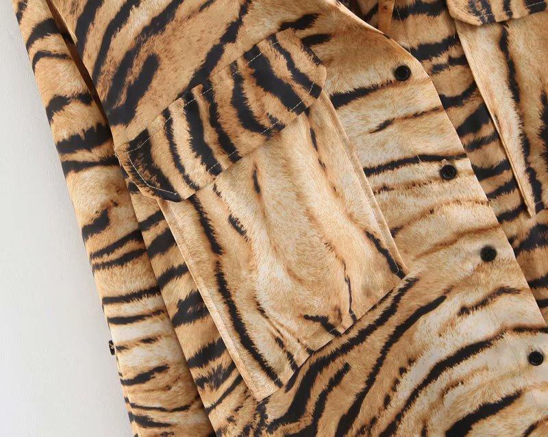 tiger print women blouse 3