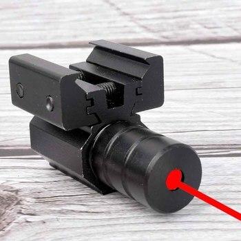 Mira telescópica láser para caza al aire libre, visor táctico de punto rojo con montaje para pistola, riel Picatinny y óptica de caza de Rifle