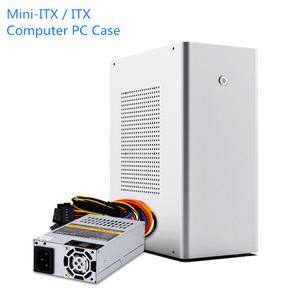 L1 Mini-ITX / ITX caja de ordenador de aluminio de escritorio HTPC chasis 1U FLEX fuente de alimentación USB3.0 Home Theater PC juego cajita