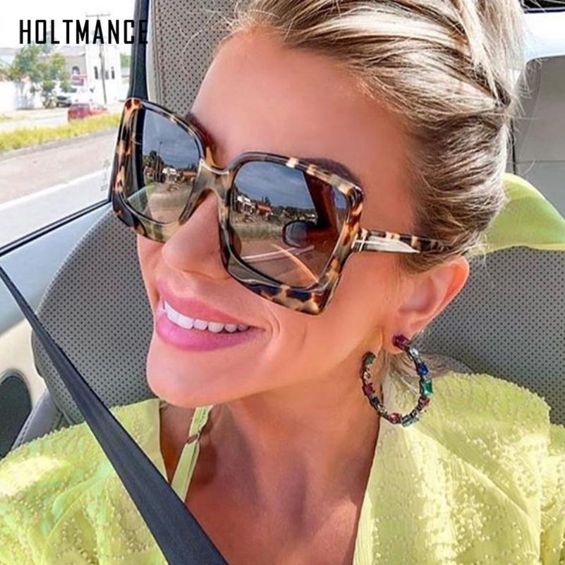 Oversize Women Sunglasses Square Frame Big Luxury Sun Glasses Gradient Sexy Shades Brand Designer Retro Female Gafas De Sol