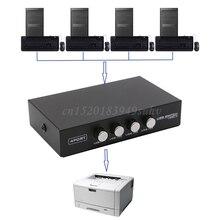 4 Ports USB 2,0 Sharing Gerät Wechseln Switcher Adapter Box Für PC Scanner Drucker