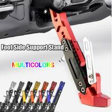 1 pieza de soporte de Pie ajustable de aleación de aluminio CNC para accesorios universales de motocicleta