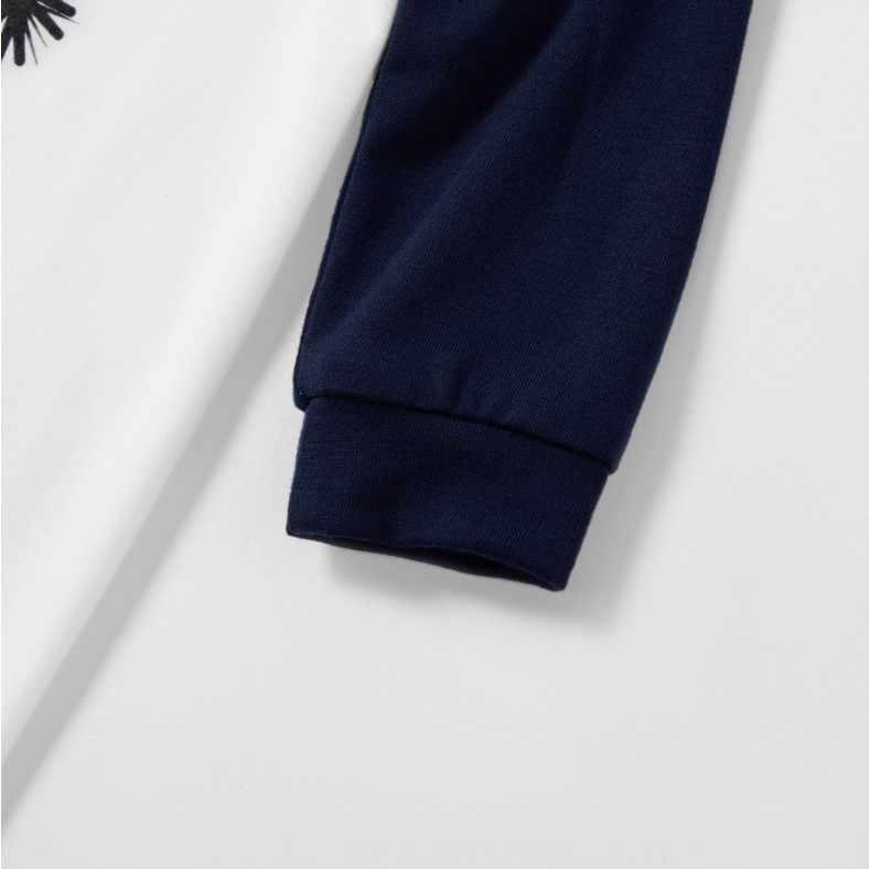 Família de natal pijamas conjunto mãe e bebê criança roupas impressão manga longa sweatershirt + calças 2pcs família roupas combinando roupa