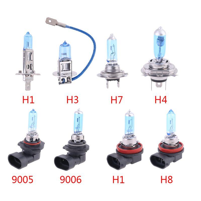 1PC Halogen Bulb H1/H3/H4/H7/H8/H11/9005/9006 12V 55W 5000K Quartz Glass Car Headlight Lamp