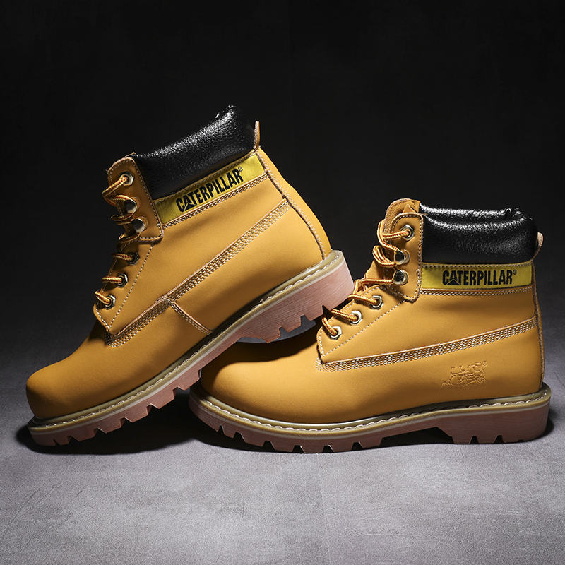 2019 Autumn NEW Men Boots Big Size 38-46 Vintage Brogue College Style Men Shoes Casual Fashion Lace-up High Boots For Man Yellow