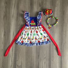 baby girls summer dress girls back to school dress apple dress girls belt dress girls boutique dress with accessories cheap girlymax COTTON Knee-Length Crew Neck REGULAR Short Casual Fits true to size take your normal size PATTERN BTS-QZ-302199