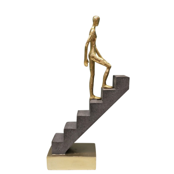 Abstract Passerby Figure Resin Thinker Miniature Upstairs Performance Art Ornament Novelty Craft Studio Decor Office Accessories 2