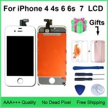 AAA איכות LCD עבור iPhone 4 4S החלפת מסך תצוגת Digitizer מגע מסך עצרת עבור iPhone 6 6s 7 LCD מסך
