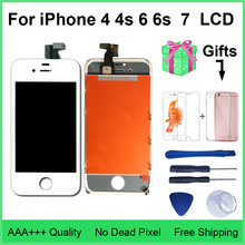 Aaa 品質の液晶 iphone 4 4s 交換画面表示デジタイザタッチスクリーンアセンブリ iphone 6 6s 7 液晶画面