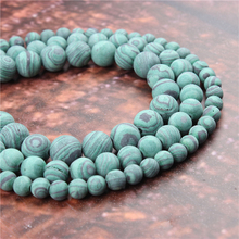 Wholesale Fashion Jewelry Frosted Malachite 4/6/8/10 / 12mm Suitable For Making Jewelry DIY Bracelet Necklace