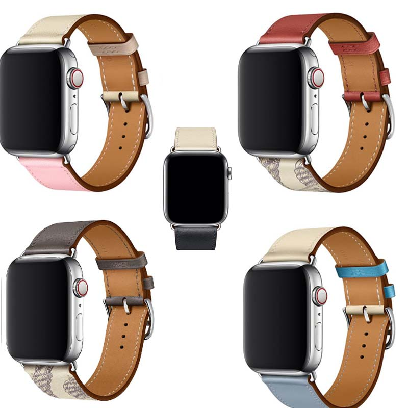 Genuine Leather Bracelet For Iwatch 3/2/1 Strap For Apple Watch Band Series 5 4 Single Tour Leather 38mm 40mm 42mm 44mm