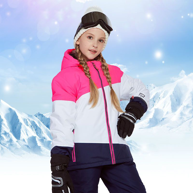 2019 new Boys Girls ski suits outdoor waterproof and windproof Keep warm Thick Snowboarding Jacket Pants Set Outdoor Wear in Skiing Jackets from Sports Entertainment