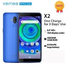 3gb ram duplo sim 4g lte celular celular celular celular android 9.0 lsmartphone tela hd 6.0 mah de vernee x2 android 6350 lte