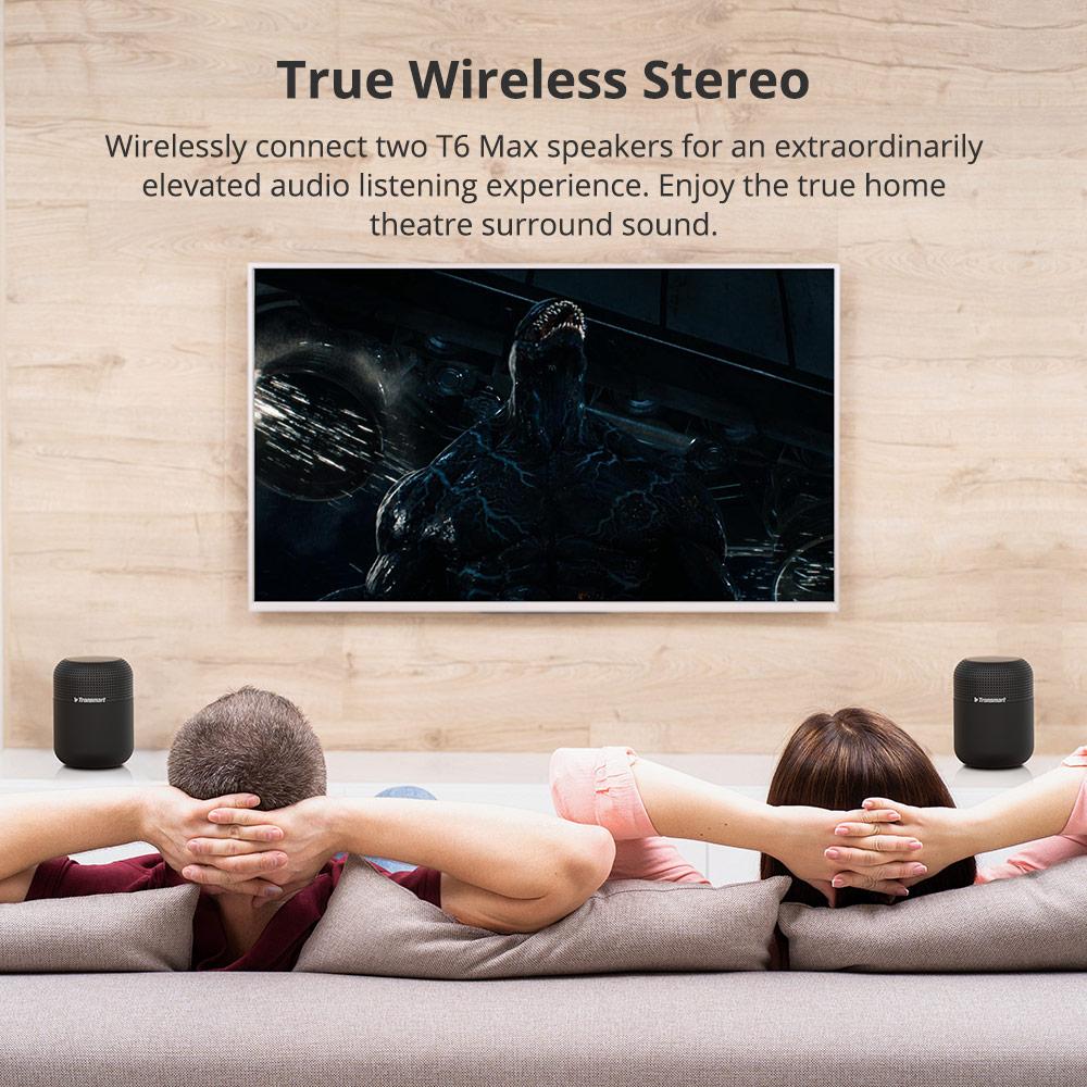 Ultimate SaleTronsmart Column Bluetooth-Speaker NFC Deep-Bass Sound Waterproof T6 Max 360-Stereo Home Theater